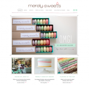 Merely Sweets website