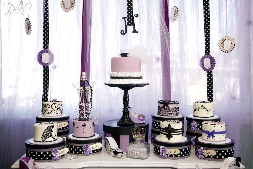 Birthday Cake Paris Design